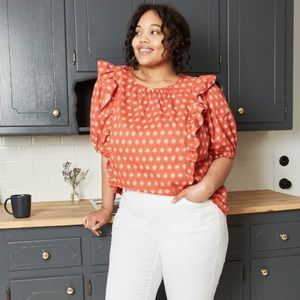 Universal Thread Puff sleeve sun print blouse